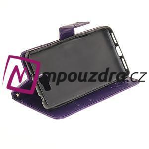 Dandelion PU kožené puzdro na Huawei Y5 II - fialové - 4