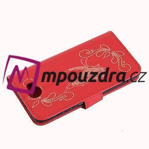 Motýlí peněženkové puzdro na Huawei Y5 II - červené - 4