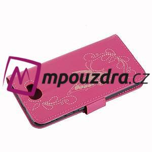 Motýlí peněženkové puzdro na Huawei Y5 II - rose - 4