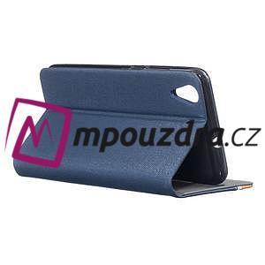 Klopové puzdro pre mobil Huawei Y6 II a Honor 5A - tmavomodré - 4