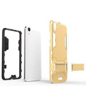 Outdoor odolný obal pre mobil Huawei Y6 II a Honor 5A - zlatý - 4