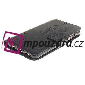 Dandelion PU kožené puzdro pre Huawei Y6 II a Honor 5A - čierné - 4