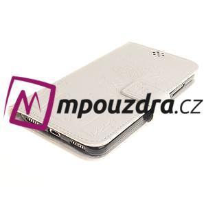 Dandelion PU kožené puzdro na Huawei Y6 II a Honor 5A - bílé - 4