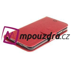 Dandelion PU kožené puzdro na Huawei Y6 II a Honor 5A - červené - 4