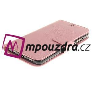 Dandelion PU kožené puzdro na Huawei Y6 II a Honor 5A - růžové - 4