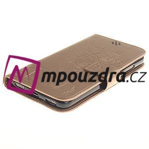 Dandelion PU kožené puzdro pre Huawei Y6 II a Honor 5A - zlaté - 4