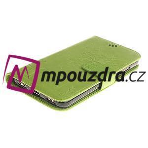 Dandelion PU kožené puzdro na Huawei Y6 II a Honor 5A - zelené - 4