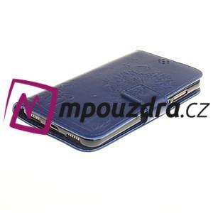 Dandelion PU kožené puzdro pre Huawei Y6 II a Honor 5A - modré - 4