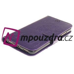Dandelion PU kožené puzdro na Huawei Y6 II a Honor 5A - fialové - 4