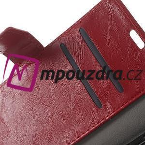 Horses PU kožené puzdro na Huawei Y6 II Compact - červené - 4