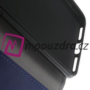 Horses PU kožené pouzdro na Huawei Y6 II Compact - modré - 4