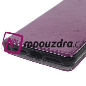 Horses PU kožené puzdro na Huawei Y6 II Compact - fialové - 4
