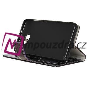 Peňaženkové puzdro s hadím motívom na Huawei Y6 II Compact - fialové - 4