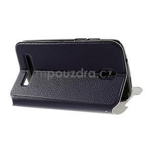 Flipové kožené puzdro na HTC Desire 500 - tmavě fialové - 4