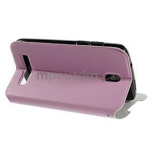 Flipové kožené puzdro na HTC Desire 500 - růžové - 4