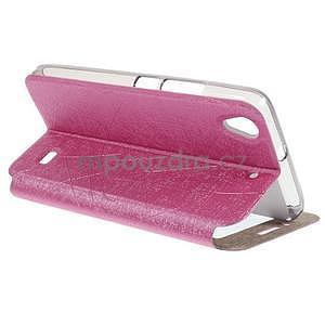 puzdro s okýnky na Huawei Ascend G620s - růžové - 4