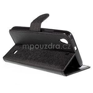 Peňaženkové puzdro na Huawei Ascend G620s - čierné - 4