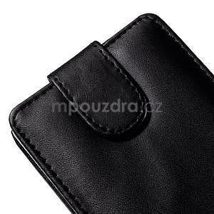 Čierné flipové puzdro pre LG G4c H525n - 4