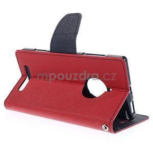 Kožené peňaženkové puzdro na Nokia Lumia 830 - červené - 4
