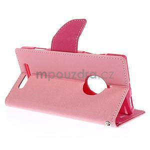 Kožené peňaženkové puzdro na Nokia Lumia 830 - růžové - 4