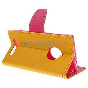 Kožené peňaženkové puzdro na Nokia Lumia 830 - žlté - 4