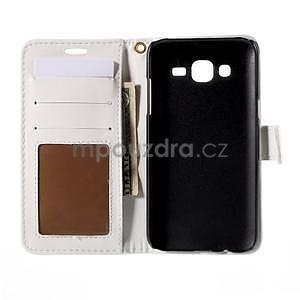 PU kožené pouzdro s imitací krokodýlí kůže Samsung Galaxy J5 - bílé - 4