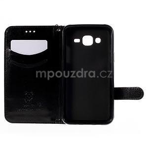Peněženkové pouzdro s kočičkou Domi na Samsung Galaxy J5 - černé - 4
