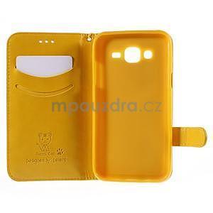 Peněženkové pouzdro s kočičkou Domi na Samsung Galaxy J5 - žluté - 4