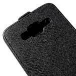 Flipové pouzdro na Samsung Galaxy J5 - černé - 4/5