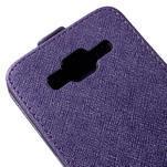 Flipové pouzdro na Samsung Galaxy J5 - fialové - 4/5