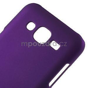 Fialový pogumovaný plastový kryt pre Samsung Galaxy J5 - 4