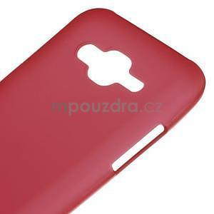 Matný gelový obal Samsung Galaxy J5 - červený - 4