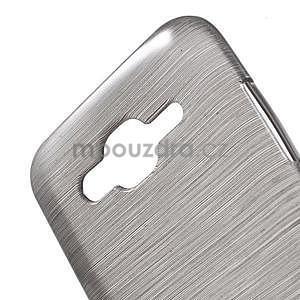Broušený gelový obal na Samsung Galaxy J5 - šedý - 4