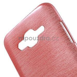 Brúsený gélový obal pre Samsung Galaxy J5 - ružový - 4