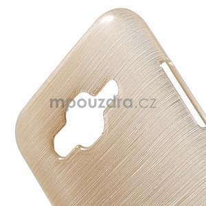 Broušený gelový obal na Samsung Galaxy J5 - champagne - 4