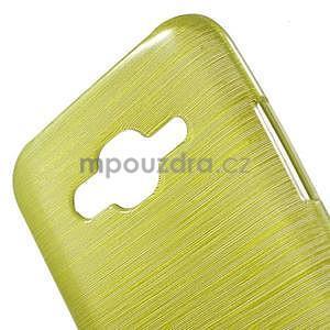 Brúsený gélový obal pre Samsung Galaxy J5 - zelenožltý - 4