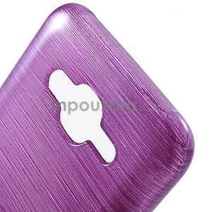 Broušený gelový obal na Samsung Galaxy J5 - fialový - 4