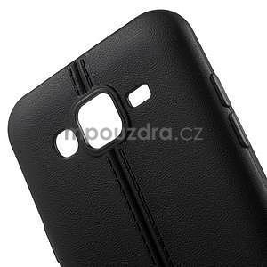 Gélový kryt se švy pre Samsung Galaxy J5 - čierný - 4
