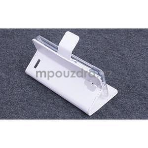 Koženkové puzdro pre mobil Lenovo A536 - biele - 4