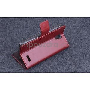 Koženkové puzdro pre mobil Lenovo A536 - hnedé - 4