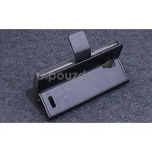 Koženkové puzdro pre mobil Lenovo A536 - čierne - 4