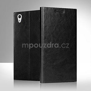 Čierné kožené puzdro na Lenovo P70 - 4