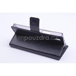 Peňaženkové kožené puzdro na Lenovo P70 - čierné - 4