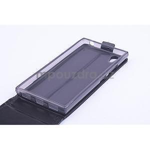 Kožené flipové puzdro pre Lenovo P70 - čierné - 4