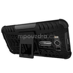 Outdoor odolný kryt se stojánkem na Asus Zenfone 2 Laser ZE500KL -  oranžový - 4