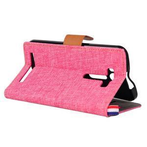 Jeans puzdro na mobil Asus Zenfone 2 Laser - ružové - 4
