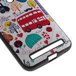 Gélový obal s koženkovým chrbtom na Asus Zenfone 2 Laser - UK - 4/5