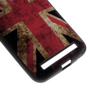 Gélový obal s koženkovým chrbtom na Asus Zenfone 2 Laser - UK vlajka - 4