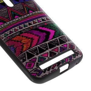 Gélový obal s koženkovým chrbtom pre Asus Zenfone 2 Laser - tribal - 4