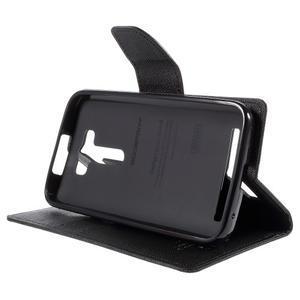 Diary štýlové puzdro na Asus Zenfone 2 Laser - čierne - 4